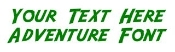 Adventure Font Decal Sticker