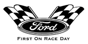 Ford First On Raceday Decal Sticker