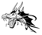 Dragon Head v2 Decal Sticker
