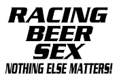 Racing Beer Sex Decal Sticker