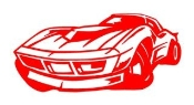 Corvette Cartoon Decal Sticker