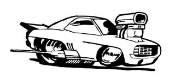 Dragster Cartoon Decal Sticker