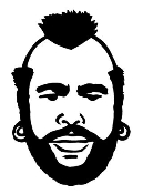 Mr T Decal Sticker