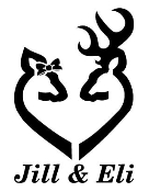 Personalized Doe and Buck Heart v2 Decal Sticker