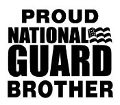 National Guard Brother Decal Sticker