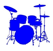 Drum Set v3 Decal Sticker