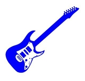 Guitar v4 Decal Sticker