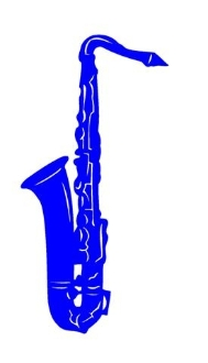 Saxophone v2 Decal Sticker