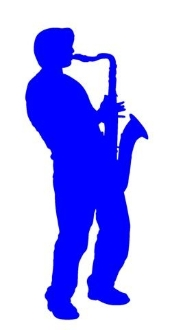 Saxophone Player v2 Decal Sticker