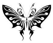 Tribal Butterfly v23 Decal Sticker