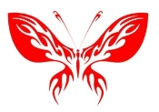 Tribal Butterfly v29 Decal Sticker