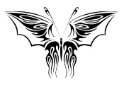 Tribal Butterfly v32 Decal Sticker