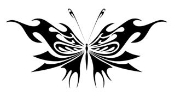 Tribal Butterfly v34 Decal Sticker