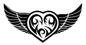 Heart with Wings v5 Decal Sticker