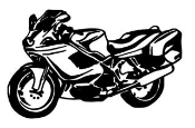 Bagger Motorcycle v2 Decal Sticker
