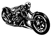 Skeleton Chopper v3 Decal Sticker