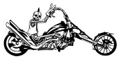 Skeleton on Chopper v2 Decal Sticker