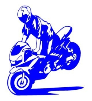 Sport Bike Stoppie Decal Sticker