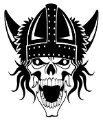 Viking Skull v2 Decal Sticker