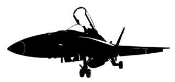 Fighter Jet v2 Decal Sticker