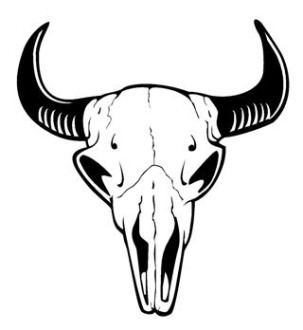 Bull Skull v9 Decal Sticker