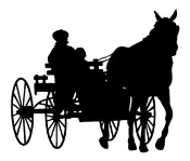 Horse and Wagon v1 Decal Sticker