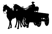 Horse and Wagon v2 Decal Sticker