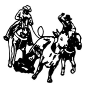 Team Roping v2 Decal Sticker