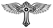 Cross with Wings v2 Decal Sticker