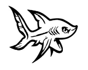 Mini Shark Decal Sticker