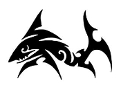 Tribal Shark v3 Decal Sticker