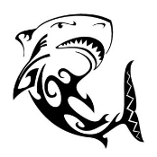 Tribal Shark v4 Decal Sticker