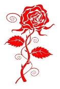 Rose v4 Decal Sticker