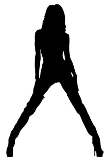 Girl with Legs Spread v2 Decal Sticker