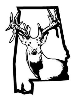 Alabama Deer Hunting v2 Decal Sticker