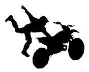 Freestyle Motocross Silhouette v2 Decal Sticker