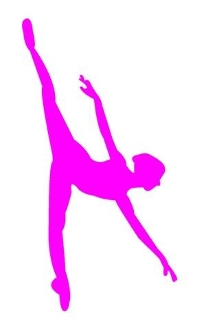 Ballet Dancer Silhouette v8 Decal Sticker