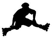 Inline Skater Silhouette v3 Decal Sticker