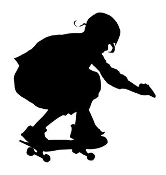Skateboarder Silhouette v8 Decal Sticker