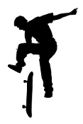 Skateboarder Silhouette v9 Decal Sticker