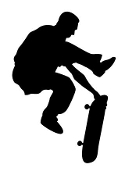 Skateboarder Silhouette v10 Decal Sticker