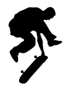 Skateboarder Silhouette v11 Decal Sticker