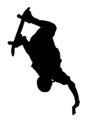 Skateboarder Silhouette v12 Decal Sticker
