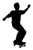 Skateboarder Silhouette v13 Decal Sticker