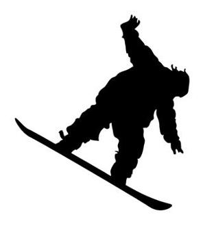 Snowboard Silhouette v11 Decal Sticker