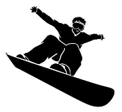 Snowboard Silhouette v12 Decal Sticker