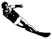 Waterskiing 1 Decal Sticker