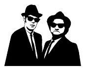Blues Brothers Decal Sticker