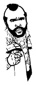 Mr T v3 Decal Sticker