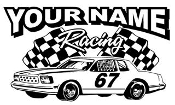 Personalized Hobby Stock Racing v2 Decal Sticker